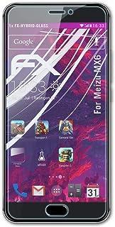 atFoliX Plastglasskyddsfilm är kompatibel med Meizu MX6 Glasskydd, 9H hybridglas FX Skyddsglas av plast
