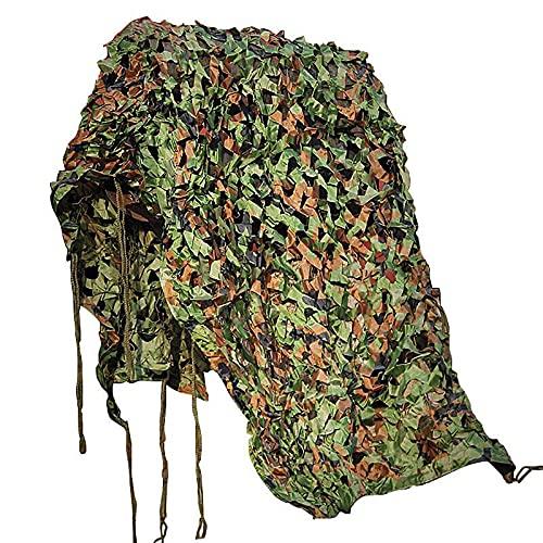 YCCLIFD Toldos Laterales Exterior, Malla De Camuflaje Militar, Malla De Camuflaje, Red De Sombreado, para Valla Pared Jardín Dormitorio Exterior Camping(Size:1.5×7m/4.9ft×23ft,Color:Jun)
