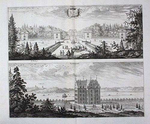 Tärnö Nyköping Tynnelsö slott Södermanland Kupferstich Dahlberg engraving