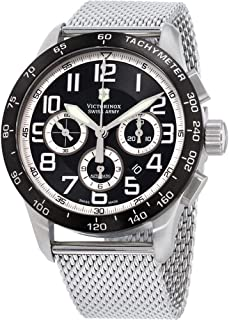 Victorinox AirBoss Mach 6 Mechanical Black Chronograph Dial Mens Watch 241447.1