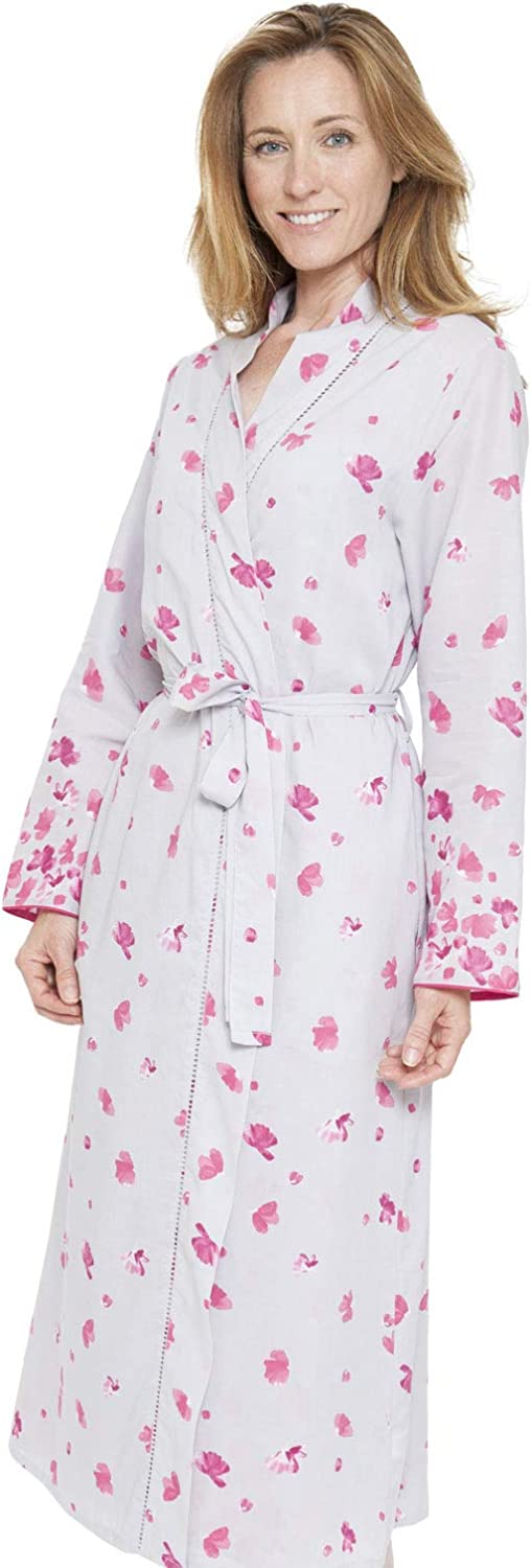Cyberjammies 1302 Women's Nora pink Ivy Grey Floral Dressing Gown