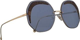 e0a48b204e Fendi FF0358/S Lunettes de soleil Blue Avec Lentilles Blues 63mm MVUKU  FF0358S FF 0358