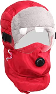 Winter Hats Trapper Trooper Warm Hat Aviator Ushanka Winter Ski Hat with Detachable Face Mask and Windproof Goggle