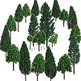 Bememo 22 Piezas de Modelo de Árbol 3 - 16 cm de Árboles de Modelo Mezclados Árboles de...