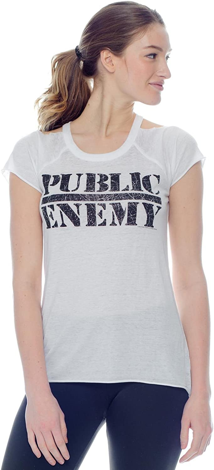 Chaser Public Enemy Short Sleeve Tee Womens Active Workout Yoga Tank