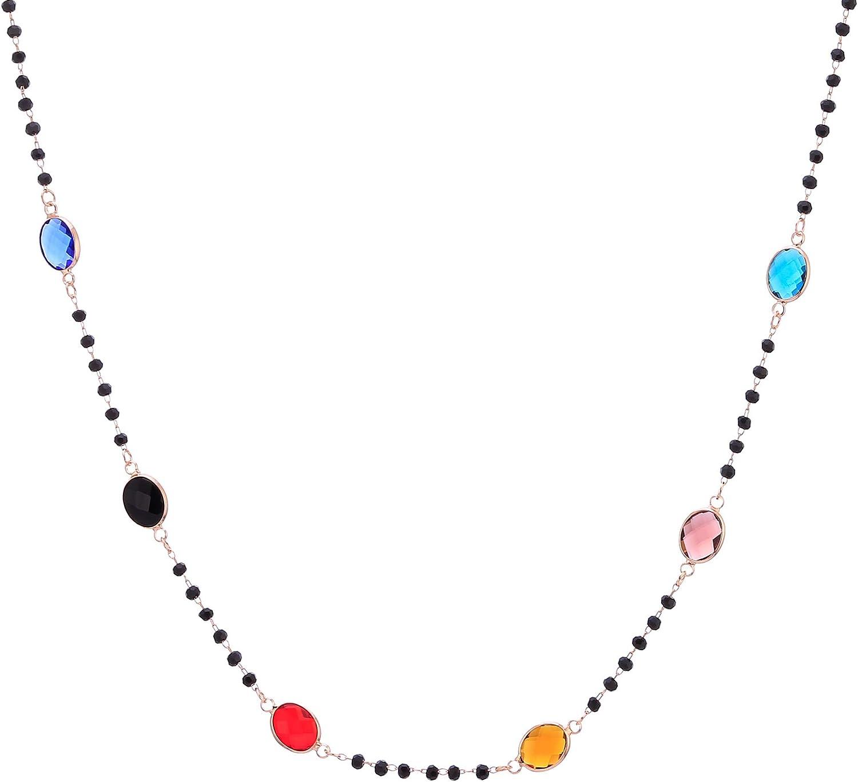 PengJin-Women's Long Light Y Necklace, Copper Color Zirconium Sweater Chain