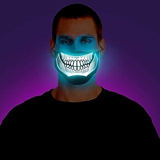 Morph Adult Screaming Light Up Skeleton Demon Hallowen LED Half Mask