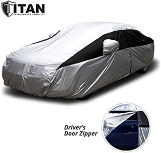 Titan Lightweight Car Cover for Camry, Mustang, Accord and More. Waterproof Car Cover Measures 200 Inches, Comes with 7 Fo...