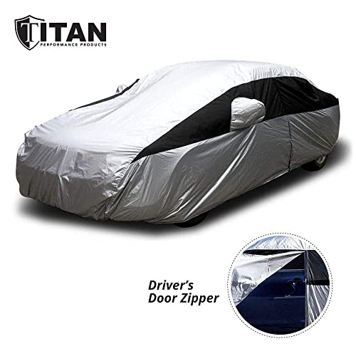 Car Cover Waterproof and UV Proof Breathable Outdoor//Indoor Dustproof Protection Full Car Cover for Cars 168x66x57inches//430x170x145cm