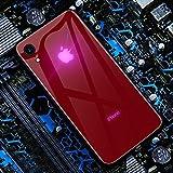 Mikowoo Coque pour iPhone X Cas de léger Logo LED Étui Illumination Couverture en Verre trempé Housse de Protection Facile à Installer,Confortable à Tenir,for iPhone 7/8/XS/XR/XS Max,B,iPhoneXR