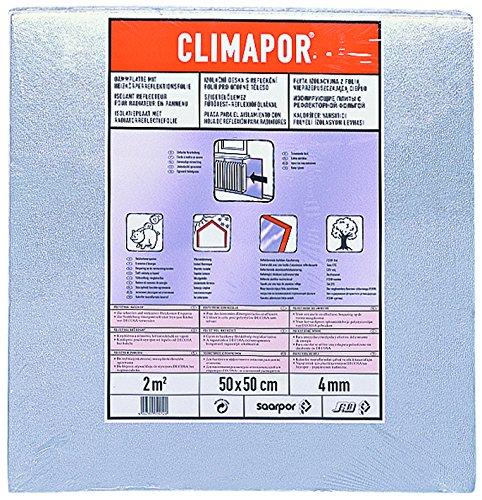 CLIMAPOR Dämmplatte alukaschiert, 0,5 x 0,5 m x 4 mm, 2 Packstücke (= 4 qm)