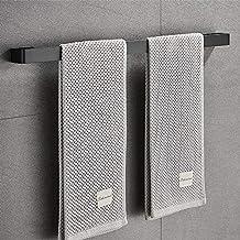 Handdoekenrek, Sikiwind Wandmontage Handdoekhouder Roestvrij Staal Handdoekrek 1-Arm Badkamer Handdoekstang 50cm (Zwart 19...