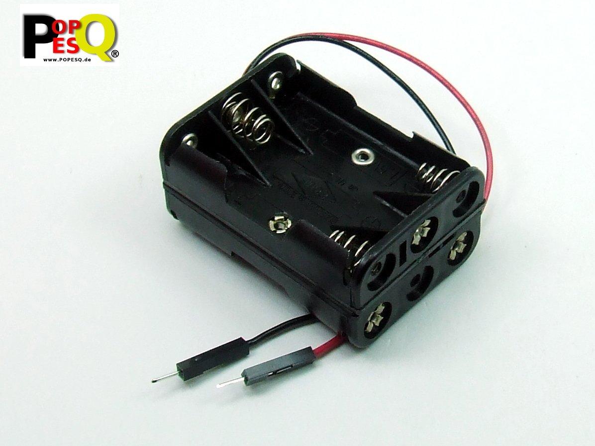 POPESQ® - ADAPTADOR Caja para Pilas Soporte Pilas / Battery Holder 6 x AAA (R3) Compacto: Amazon.es: Electrónica