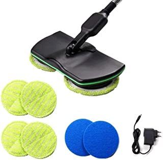 Wireless Electric Rotary Mop Cleaning Handheld Spinning Mop Rechargeable Powered Floor Cleaner Scrubber