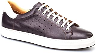 Cabani Bağcıklı Sneaker Erkek Ayakkabı Kahve Floter Deri