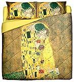 Deco Italia Trapunta Leggera Klimt - Il Bacio | Matrimoniale 250 x 260 cm