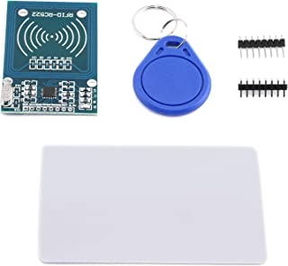 DGZZI 1 Set MFRC-522 RC-522 RC522 Antenna RFID Reader Sensor Module with S50 White IC Card and IC Key Chain for Arduino