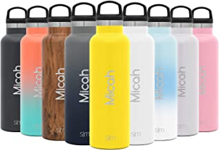 Simple Modern 17oz Ascent Water Bottle - Stainless Steel Flask w/Handle Lid - Hydro Double Wall Tumbler Vacuum Insulated Yellow Small Reusable Metal Leakproof -Sunshine