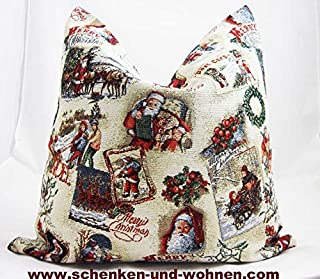Kissen o. Füllung Wintermärchen Gobelin, 45 x 45 cm