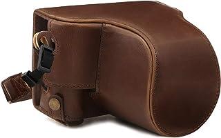 MegaGear Ever Ready Leder Kameratasche mit Trageriemen kompatibel mit Fujifilm X A7