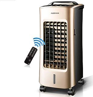 Ventilador Eléctrico Práctico, Ventilador de Enfriamiento Portátil Temporizador Remoto Refrigerador de Aire Ventilador Móvil Radiador Aire Acondicionado Ventilador de Ahorro de Energía para Sala de E