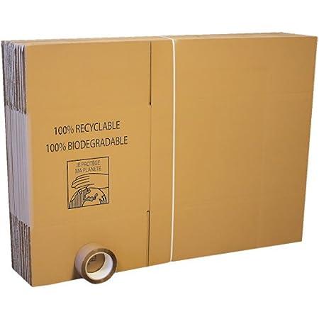 Lot de 20 cartons standard déménagement + 1 adhésif OFFERT