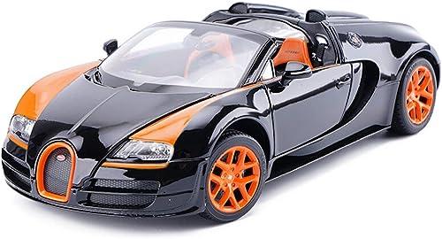 YSNUK Modèle réduit de voiture Statique Modèle De Voiture En Alliage Simulation Garçon Jouet Voiture 1 18 Bugatti Veyron Enfants 'Playsets De Véhicules à Moteur Mini voiture modèle, décoration, cadeau