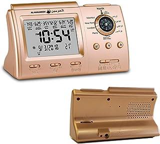 HXZB Azan Tableau Horloge Numérique Musulman Prière Alarme Athan Islamique Qibla Compass Desktop Clock, Complet Azan pour ...