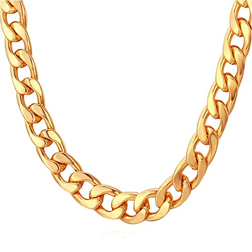 TUOKAY 18K Faux Gold Chain Necklace 890bf938ab
