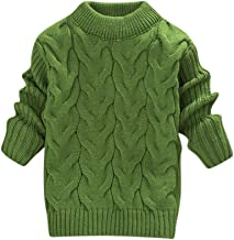 Youmymine Toddler Baby Kids Girls Knit Sweater Long Sleeve Tops Solid Ruched Warm Crochet Pullover T-Shirt Clothes