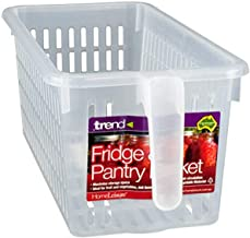 HomeLeisure Fridge and Pantry Basket Fridge and Pantry Basket, Small, Clear, RHFOB002.00