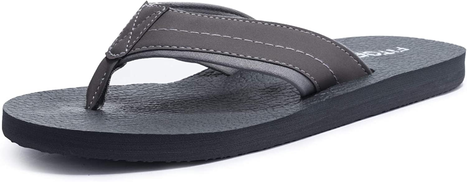 FITORY Mens Flip Flops Soft Yoga Mat Thong Sandals Lightweight Slippers for Outdoor Indoor