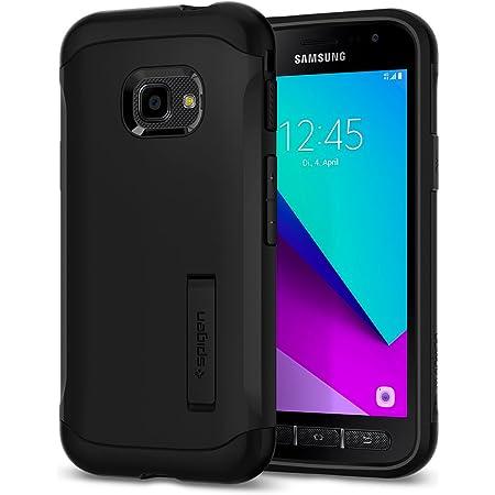 Spigen, Funda Compatible con Samsung Galaxy Xcover 4/4S 2019 [Slim Armor] con Kick Stand y Protección híbrida contra caídas para Samsung Galaxy Xcover 4/4S [Negro]