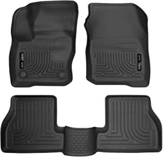 Husky Liners 99771 Fits 2016-18 Ford Focus Weatherbeater Front & 2nd Seat Floor Mats, Black