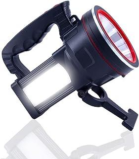 OCSMT Rechargeable Spotlight Flashlight Handheld, 8000 Lumens LED Spotlight Outdoor High Bright IPX6 Waterproof With Power...