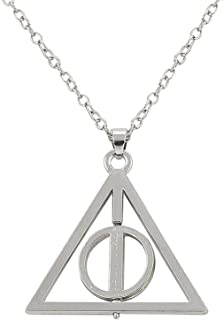 Royal Lion Silver Square Necklace Triangle Owl