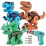 Yommida Dinosaur Toys for 3 4 5 6 7 8 Year Old Boys, Take Apart Dinosaur Toys for Kids STEM Construction Tools Education Toys for Kids Easter Children's Day Christmas Birthday Gifts Boys Girls