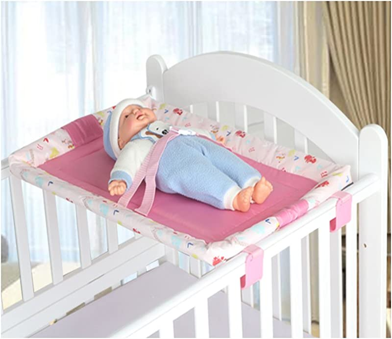 Miyaou Universal Baby Cot Top Changer 70x45 CM Portable Baby Changing Table 5 Colors PlanALanger Pink