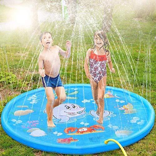 YLJYJ Almohadilla para Salpicaduras de 68'para niños pequeños, Almohadilla para rociadores Inflable para niños, Piscina para niños con tobogán y Deslizamiento, Agua de jardín al Aire Libre (natación)