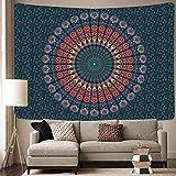 Tapiz Mandala Mandalas De Tela Tapiz Pared Mandala Pared Tela Mandala Tapices Decorativos Aplicar para Mandalas para La Pared Toalla Pareos Pañuelo Playa Grandes Manta Mandala(Azul Dorado)
