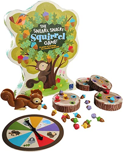 Educational Insights The Sneaky, Snacky Squirrel Game for Preschoolers & Toddlers, Color Recognition, Fine Motor Skil...