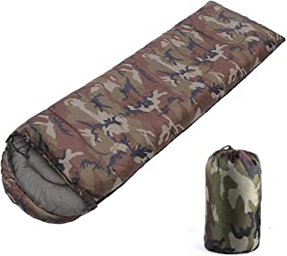 Moving Ship Sleeping Bag Indoor & Outdoor Use, Envelope Lightweight Portable, Camouflage Sleeping Bag Adult 3 Season Perfect for Traveling, Camping, Hiking, Other Activities