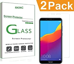 RKINC for Huawei Honor 7C Screen Protector, [2 Pack] Crystal Clear Tempered Glass Screen Protector [9H Hardness][2.5D Edge][0.33mm Thickness][Scratch Resist] for Huawei Honor 7C