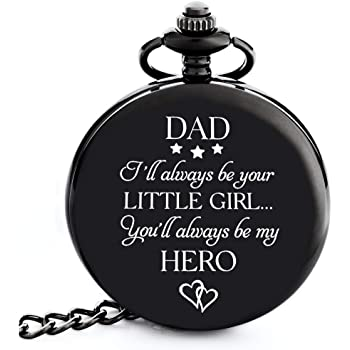 """Gifts for Dad from Daughter I Dad Gifts from Daughter -""""I Will Always be Your Little Girl"""" Pocket Watch I Dad Birthday Gifts from Daughter I Father Daughter Gifts I Gift for Daddy from Daughter"""