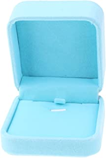 HOMYL Luxury Jewelry Necklace Pendant Bangle Earring Box Case Holder Gift Wedding - Light Blue, 7.1×7.1×4.1 cm