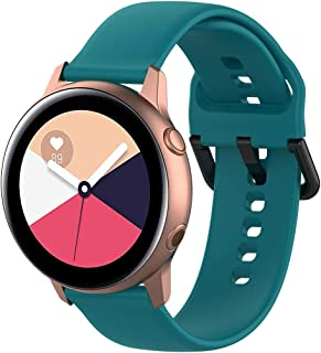 Womdee Band Compatible Samsung Galaxy Watch Active 40mm, 20mm Width Soft Silicone Replacement Strap for Galaxy Watch Active SM-R500 Smart Watch Women Men Green