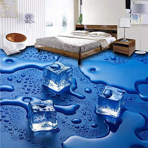 Moderne 3D Stereo IJs Cake Water Drop Vloertegels Foto Mural Wallpaper Woonkamer Badkamer PVC Waterdichte Wear 400 x 280 cm.