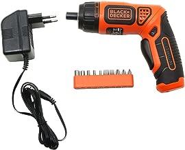 BLACK+DECKER BDCS36F 3.6V Li-Ion Cordless Screw Driver Kit with LED Guiding Light (10-Bits), Orange