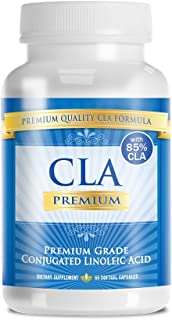 CLA PREMIUM: 100% PURE Conjugated Linoleic Acid - 2000mgs - 60 Capsules - 1 Month Supply - Natural Weight Loss Management - 90 Days 100% Money Back Guarantee - 85% CLA from Safflower Oil