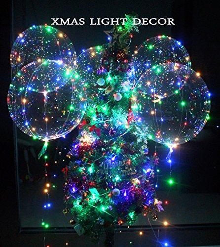 Eanjia 6 stücke Led 18 Zoll Bobo Ballon Blinklichter für Geburtstag Hochzeit Weihnachten Vorschlagen Party Dekorative, füllung mit Helium, Beste Nacht Party Supplies (18 Zoll)